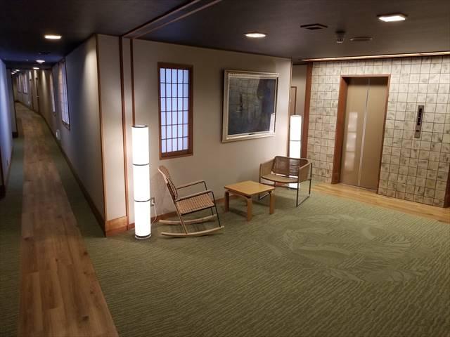 緑翠亭9階・8階の客室及び廊下リニューアル完了♪