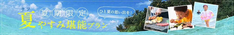 夏休み堪能プラン
